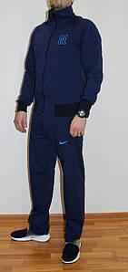 Мужской спортивный костюм Nike синий Турция реплика L