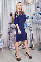 Женское платье с вышивкой, размеры 44-56.