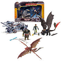 Дракон Беззубик и Грозокрыл Игровой набор  Как приручить дракона Битва на Драконьей горе Spin Master Dragons