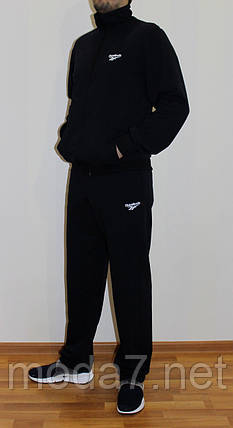 Мужской спортивный костюм Reebok черный Турция реплика, фото 2