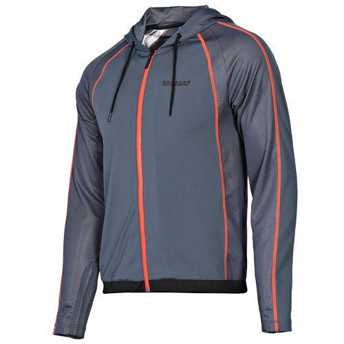 Толстовка спортивная мужская adidas 356 Speedster D89185 (темно-серая, на молнии, с капюшоном, логотип адидас)