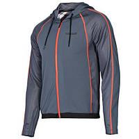 Толстовка спортивная мужская adidas 356 Speedster D89185 (темно-серая, на молнии, с капюшоном, логотип адидас), фото 1
