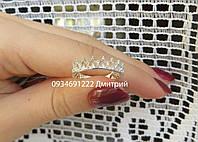 Кольцо Коронка из серебра, фото 1