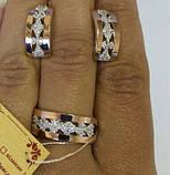 Серебряный гарнитур с золотыми пластинами, фото 2