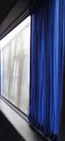 Шторы. Автомобильные шторки Fiat Doblo синие