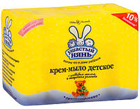 Крем-мыло с оливковым маслом и ромашкой Ушастый нянь 4*100 гр