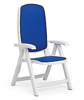 Кресло Delta бело-синее