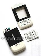 Корпус для Nokia 5200 (полный комплект+кнопки) черный, белый high copy
