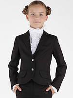 Школьная форма пиджак классический, на 2 пуговицах дев. черный 65% п/э,35% вискоза, подкл.-100% п/э SS-B-G-080
