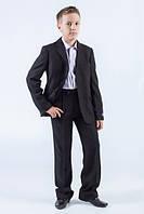 Школьная форма костюм классический мал. черный 65 %п/э, 25% вискоза,10% шерсть, подкл.-100% п/э SS14B-0702-022