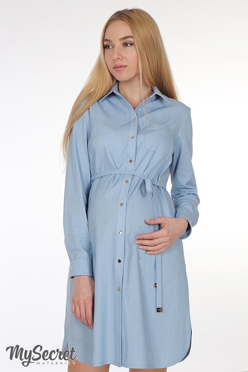 d7ca3b98d70e6c9 Платье-рубашка для беременных