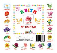 """Набор детских карточек ТМ Зірка """"Квіти"""" (мал.) 17 шт в наборе (укр)"""