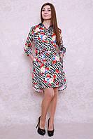 Стильное молодёжное платье-рубашка