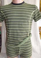 Комплект мужской стрейч (футболка + боксерки) С+3 зеленый, L, комплект