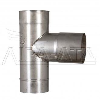 Тройник 90 из нержавейки 0,5 мм AISI 304