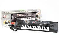 Детский синтезатор с микрофоном MQ-007FM