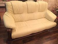 Кожаный комплект на дубе KATRIN, шкіряні меблі,кожаный диван