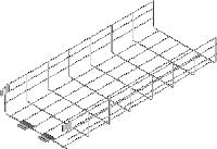 Проволочный лоток со сварным соединителем KDSZ200H110/3