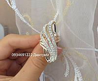 Серебряное кольцо по пальцу с камнями , фото 1