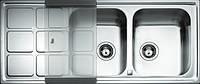 Кухонная мойка Квадро 2Б1Д - Teka CUADRO 2B 1D полированная (1,0мм)