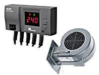 Комплект автоматики для твердотопливных котлов KG Elektronik программатор CS 20 + турбина DP 02