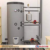 Водонагреватель напольный  с двумя теплообменниками (S2) Eldom 750л, фото 1