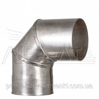 Колено 90 из нержавейки 0,5 мм AISI 304
