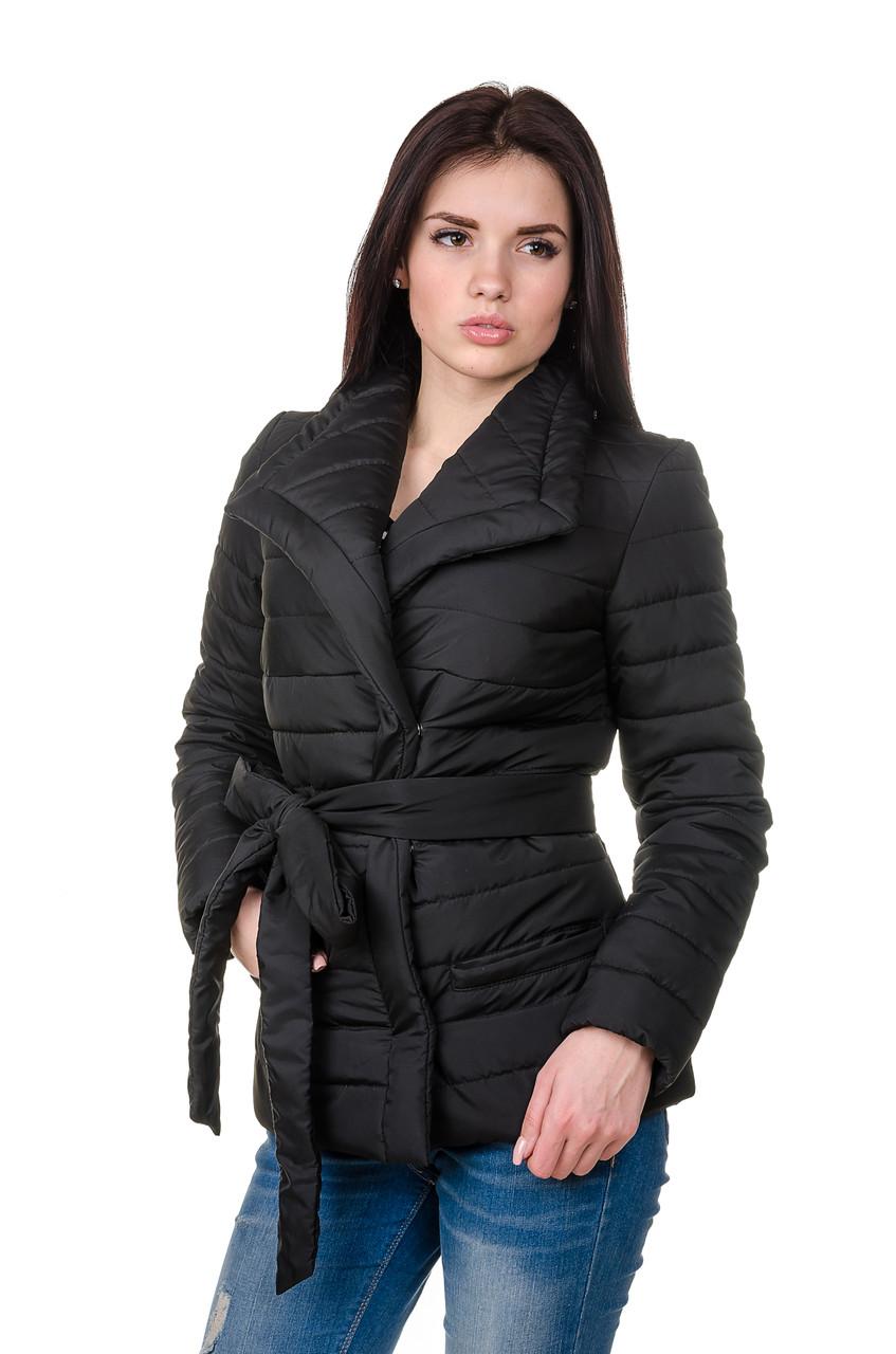 Элегантная женская куртка деми Миледи (черный)