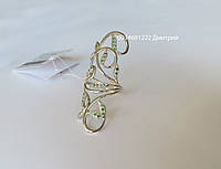 Шикарное кольцо на фаланцу пальца из серебра