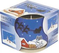 Свеча  ароматическая зима в стекле уценка