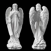 Скульптура в Украине. Надгробный Ангел с розами из литьевого мрамора 57 см, фото 1