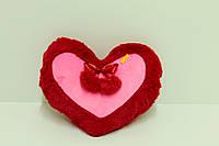 Подушка-серце 3 червоний
