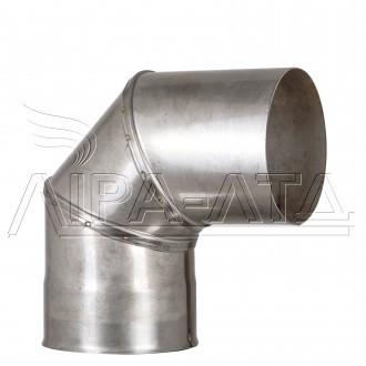 Коліно 90 з нержавійки 0,8 мм AISI 304