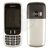 Корпус для Nokia 6303, 6303i с клавиатурой, серебристый, оригинал