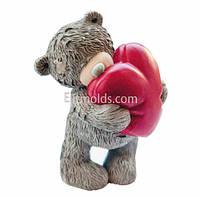 Силиконовая форма Тедди с сердцем 3D
