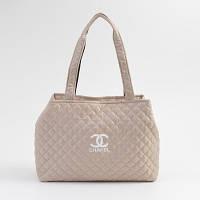 Сумка женская Chanel (Шанель), стёганая, бежевая