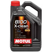 Моторное масло Motul 8100 X-clean 5W-40 4л