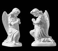 Ритуальная скульптура Ангел на колене литьевой мрамор 25 см