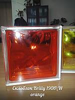 "Стеклоблок Brilly 1908\W Orange ""Волна"" - Чехия, фото 1"