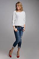 Блуза с широким реглан-рукавом длиной 3/4 на манжете, фото 1