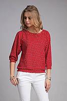Блуза  из структурного, немнущегося трикотажа