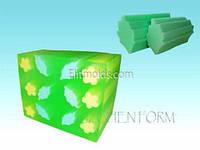 Силиконовая форма Тубус дубовый лист (для брускового мыла)