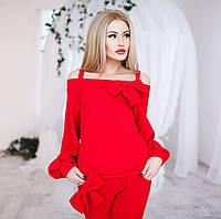 Костюм женский свободный с Бантами - Красный