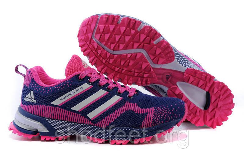 Женские кроссовки Adidas Marathon TR15 Blue/Pink