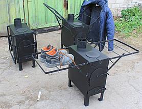 Буржуйка с вар. поверхностью и сушилкой для рабочей одежды, сталь 4мм, фото 3