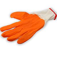 Перчатки стрейчевые с нитриловым покрытием оранжевого цвета