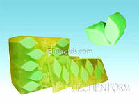Силиконовая форма Тубус чайный лист (для брускового мыла)