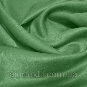 Штора софт оливково зеленая