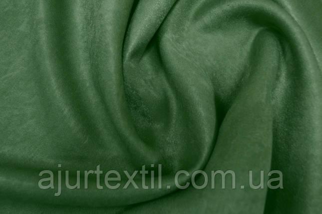 Штора софт оливково зеленая, фото 2