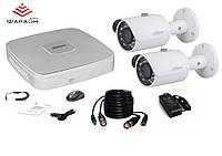 1Мп HDCVI Комплект видеонаблюдения Dahua на 2 наружные камеры